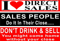 Direct Sales Bumper Stickers